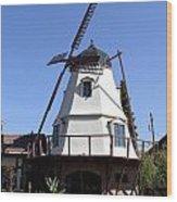 Windmill In Solvang Wood Print