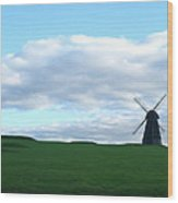 Windmill In Southern England Wood Print