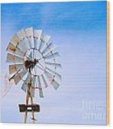 Windmill In Winter Wood Print