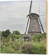 Windmill Of Kinderdijk Wood Print