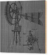 Windmill Patent Barn Wall Wood Print