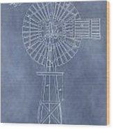 Windmill Patent Wood Print