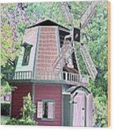Windmill - Photopower 1555 Wood Print