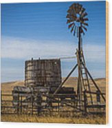 Windmill Water Pump Station Wood Print