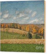 Windmills On The Horizon Wood Print