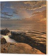 Windnsea Gold Wood Print