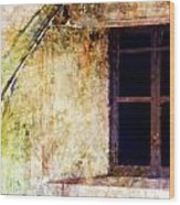 Window - Water Color - Fort Wood Print