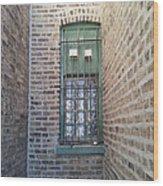 Window Against The Wall Wood Print