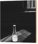 Window And Bottle Wood Print