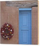 Window And Ristra Wood Print