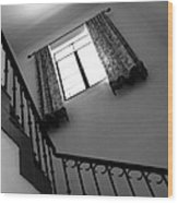 Window And Stairs Wood Print