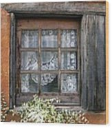 Window At Old Santa Fe Wood Print