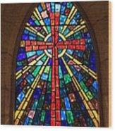 Window At The Little Church In La Villita Wood Print