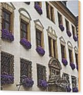 Window Boxes In Germany Wood Print