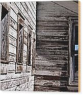 Window Chalk Wood Print by John Grace