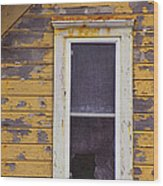 Window In Abandoned House Wood Print by Jill Battaglia