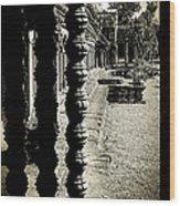Window In Angkor Wat Wood Print