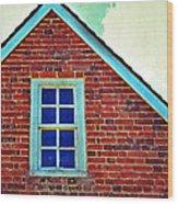 Window In Brick House Wood Print