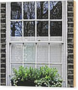 Window In London Wood Print by Elena Elisseeva