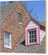 Window In Pink Wood Print