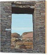 Window In Time Wood Print