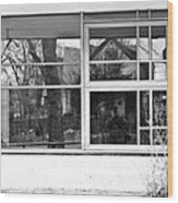 Window In Window Wood Print