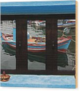 Window Into Greece 6 Wood Print