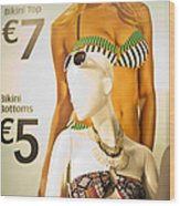 Window Mannequin 6 Wood Print