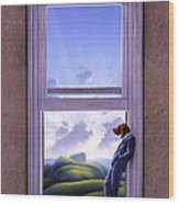 Window Of Dreams Wood Print by Jerry LoFaro