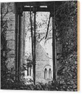 Window Of Haunted Abbey Wood Print