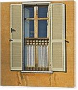 Window Of Rome II Wood Print