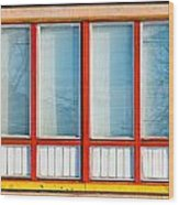 Window Of Soviet Building Wood Print