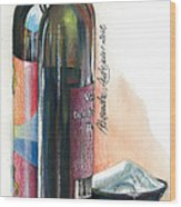 Window On A Bottle Wood Print by Alessandra Andrisani