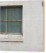 Window On Concrete Wood Print