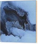 Window On Tangle Falls Wood Print