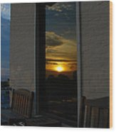 Awesome Sunset Window Reflections Downtown Charleson Sc Wood Print by Ella Char