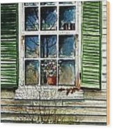 Window Reflections Wood Print