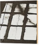 Window Shadow Wood Print