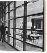 Window Shopping In The Dark Wood Print