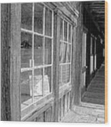 Window Shopping        Pencil Wood Print