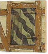 Window Shutter 2 Wood Print