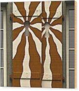 Window Shutter 3 Wood Print