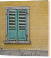 Window Shutter Wood Print