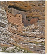 Window To The Past - Montezuma Castle Wood Print by Christine Till