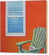 Window To The Sea No. 1 - Seashell Wood Print