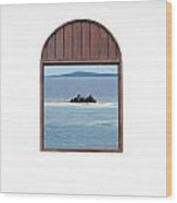 Window View Of Desert Island Puerto Rico Prints Wood Print