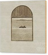 Window View Of Desert Island Puerto Rico Prints Vintage Wood Print by Shawn O'Brien