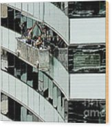 Window Washers Wood Print