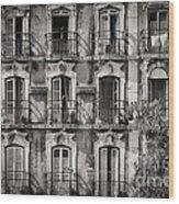 Windows And Balconies 2 Wood Print