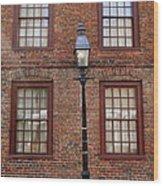 Windows And Brick Wood Print